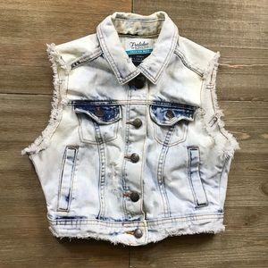SALE 3/$10 Zara Trafaluc Distressed Denim Vest